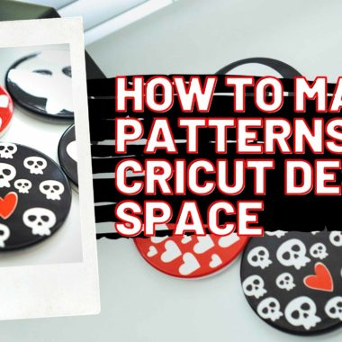 How To Make Patterns in Cricut Design Space + DIY Skull Coasters
