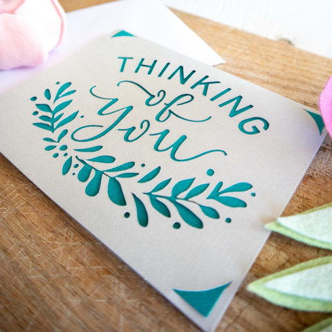 Cricut Joy Thinking of You Card