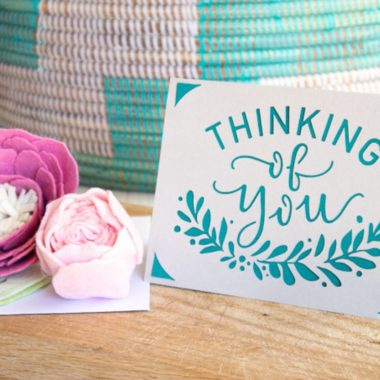 Make Your Own Cricut Joy Thinking of You Card