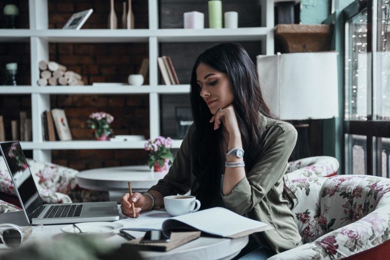 Woman breakthrough journaling