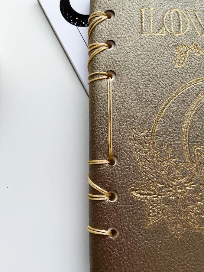 Binding Homemade Leather Journal