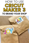 How to use Cricut Maker to Brand your Shop