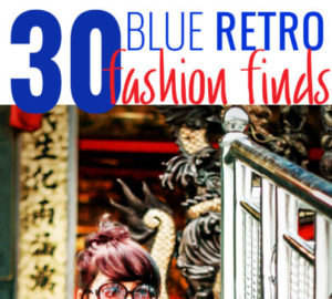 30 Blue Retro Fashion Finds