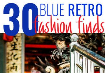 30 Blue Retro Fashion Finds