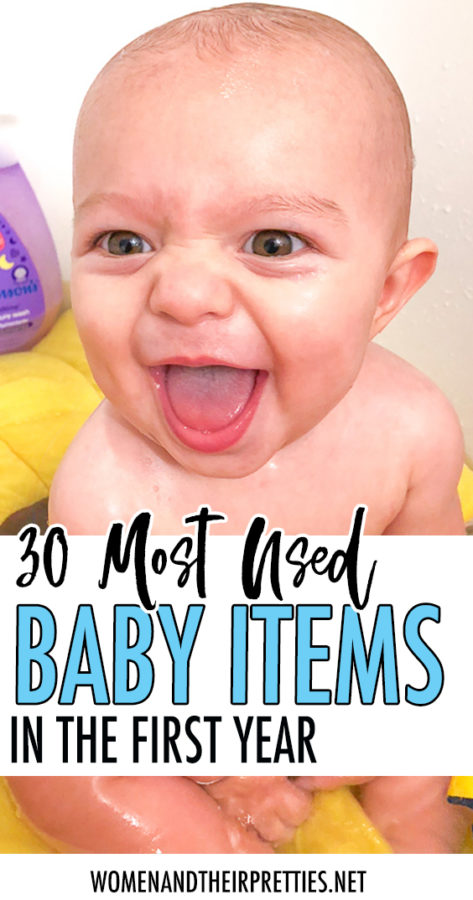 30 most used baby items in the first year