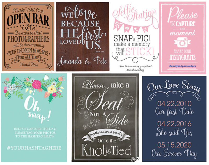 Cheap Outdoor Wedding Signs