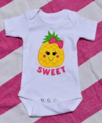 Pineapple Baby Girl Bodysuit