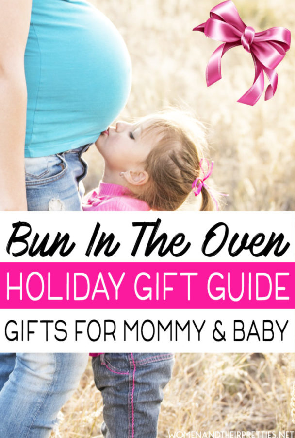 Looking for gift ideas for a mama with a bun in the oven? I've gathered a list of the top gifts ideas for baby showers, holidays, & more! Spoil the mom-to-be and new baby this year!