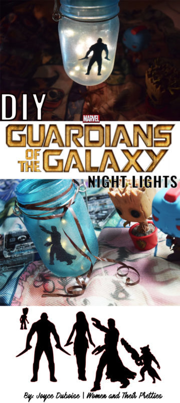 DIY Guardians of the Galaxy Night Light – an easy Guardians on the Galaxy craft! #GotGVol2