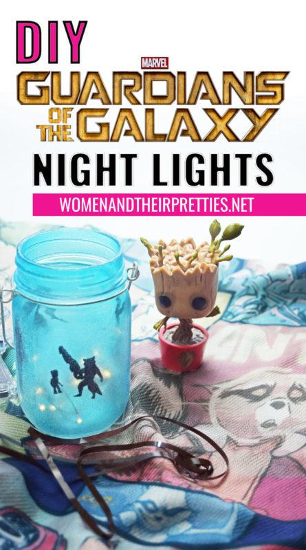 DIY Guardians of the Galaxy Night Light – an easy Guardians on the Galaxy craft! #GotGVol2