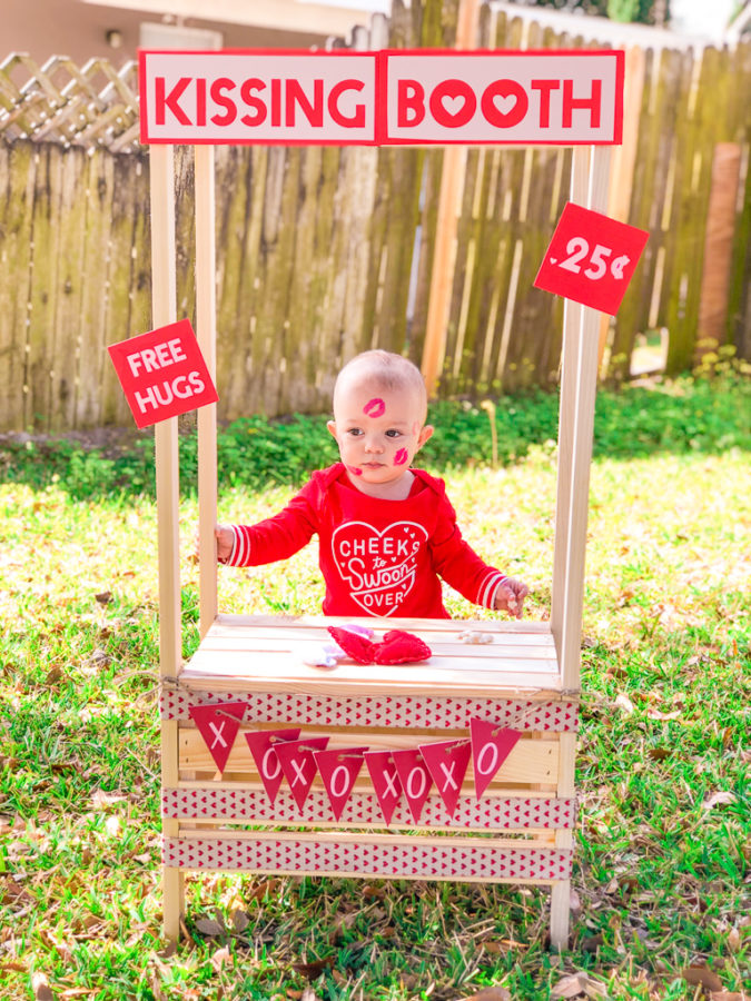 Diy Reusable Kissing Booth Photo Booth With Free Silhouette