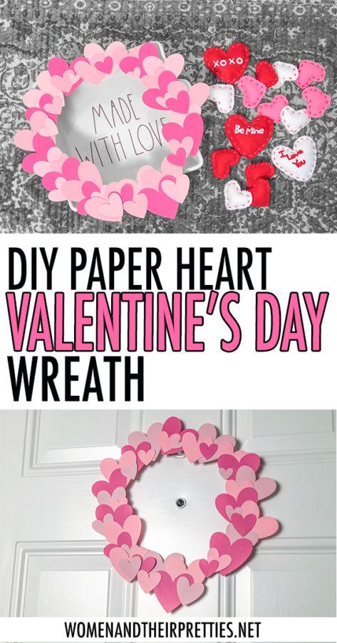 DIY PAPER HEART VALENTINE'S DAY WREATH