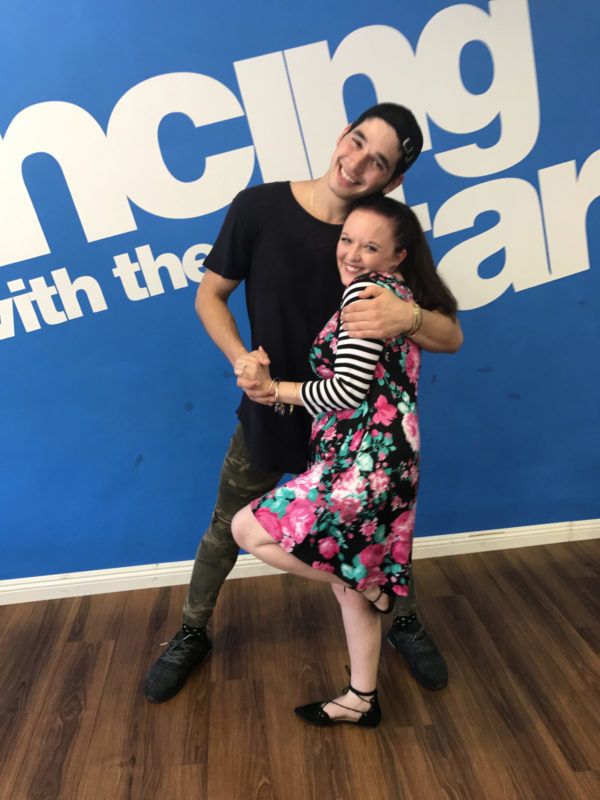 I got an official Dancing With The Stars Dance Lesson & talked to the #DWTS Troupe! #GotGVol2Event