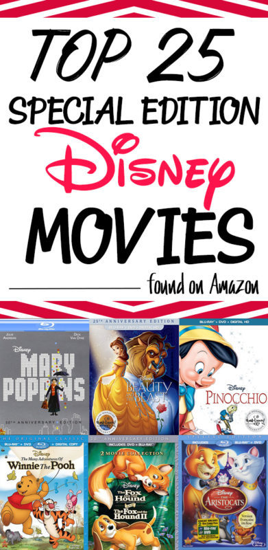 Disney loves to surprise up by re-releasing the Disney classic movies that we all love! They are slowly releasing the movies from the vault in with Disney Special Editions on Blu-ray. You can find these top 25 on Amazon right now. Get them while you still can!