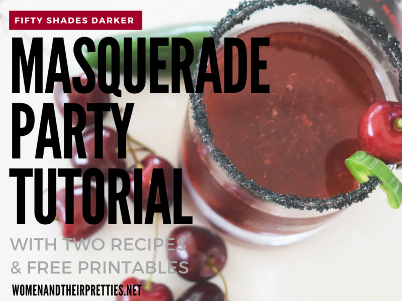 Get your girls together for a Fifty Shades Darker Masquerade Party! Use my masquerade party tutorial for Fifty Shades recipes and party ideas! #ad #FiftyShadesDarker