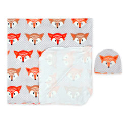 Boy Swaddle Hat Set