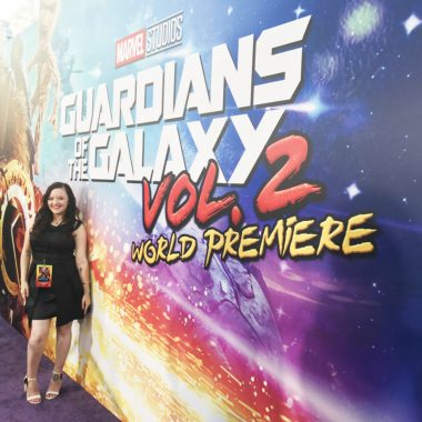 "Sometimes in life you get experiences that you can't fully comprehend and walking the ""purple carpet"" at the Guardians of the Galaxy Vol. 2 premiere was one of them. Let's talk about who I saw, how I felt, and about my Guardians of the Galaxy Vol. 2 review. This unbiased post is sponsored by Disney as a part of the epic #GotGVol2Event, obviously."