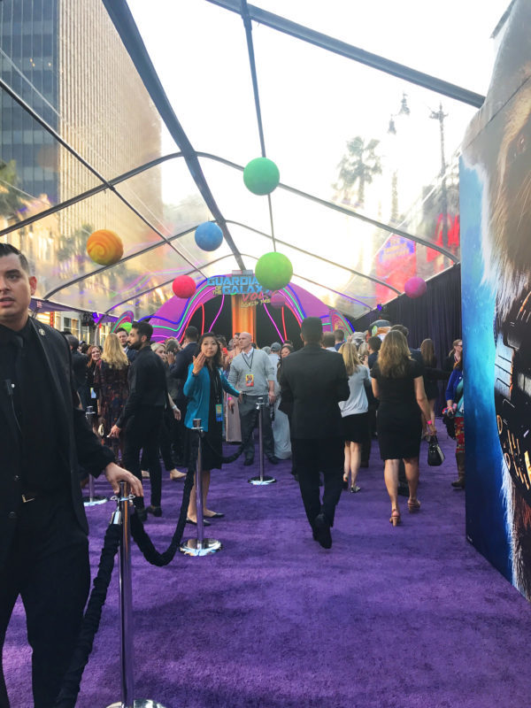 """Sometimes in life you get experiences that you can't fully comprehend and walking the """"purple carpet"""" at the Guardians of the Galaxy Vol. 2 premiere was one of them. Let's talk about who I saw, how I felt, and about my Guardians of the Galaxy Vol. 2 review. This unbiased post is sponsored by Disney as a part of the epic #GotGVol2Event, obviously."""
