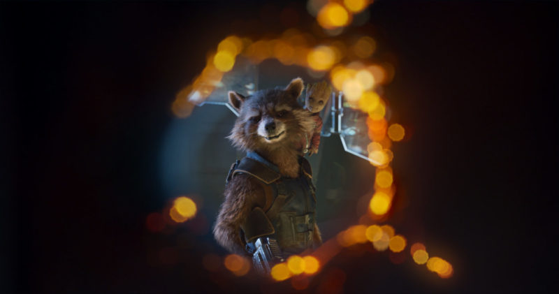 Guardians Of The Galaxy Vol. 2..L to R: Rocket (Voiced by Bradley Cooper) and Groot (Voiced by Vin Diesel)..Ph: Film Frame..©Marvel Studios 2017