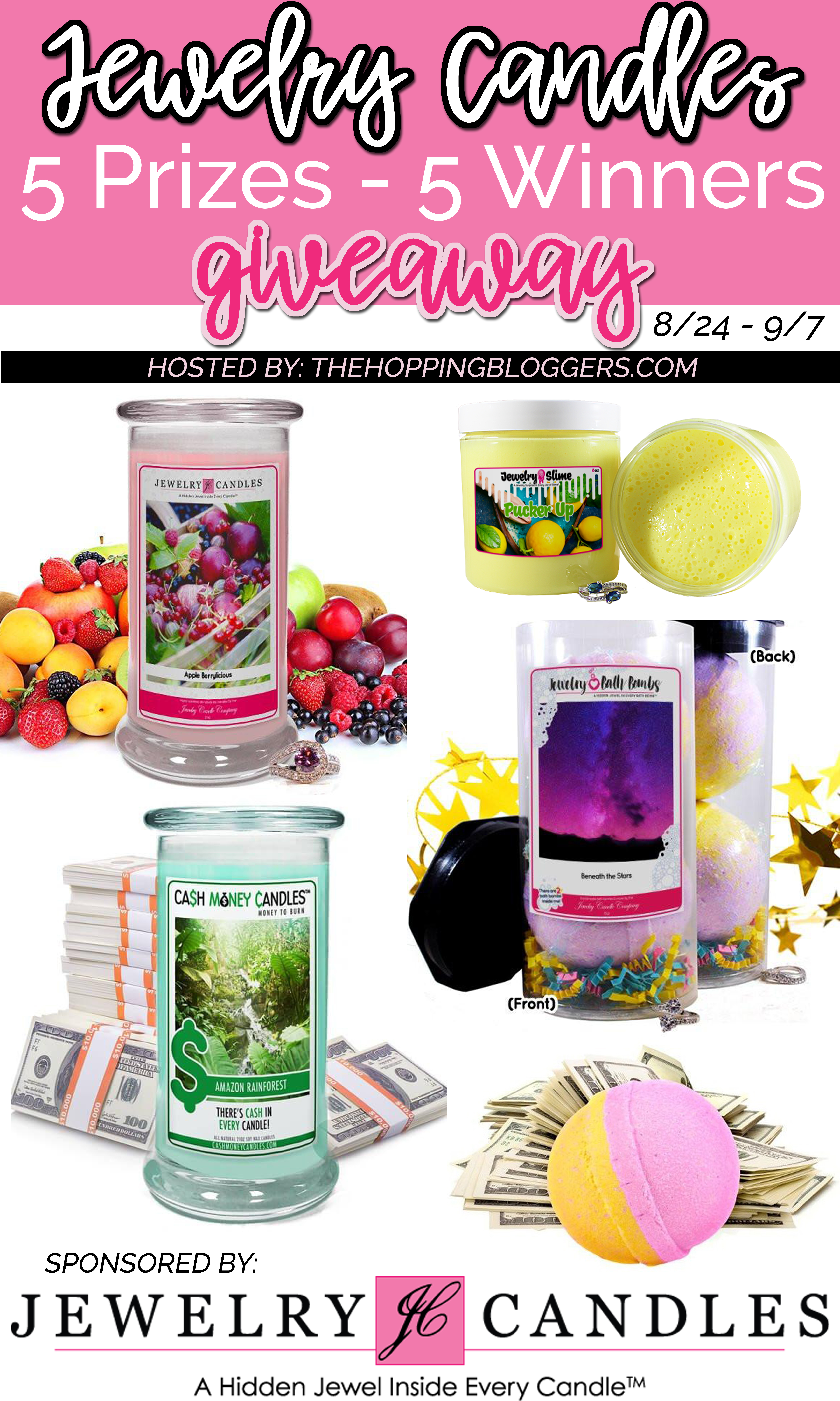 Jewelry Candles Giveaway | #ad #TheHoppingBloggers #THBgiveaway #JewelryCandles