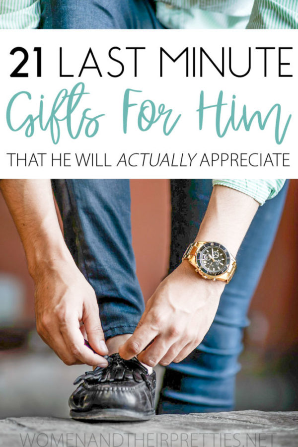 Bookmark this list for the next time you're shopping to find last minute gifts for him. Whether you're getting gifts for husband, dad, brother, son, or boyfriend – there's a little something here that he will actually appreciate. So, grab a gift now and he will never know that you procrastinated for as long as womanly possible.
