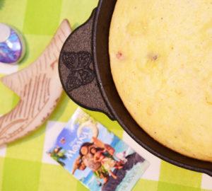 Moana's Tropical Skillet Cornbread Recipe – A Disney Inspired Moana Recipe & Disney Linky Party Wk. 4 #MoanaOnDigital
