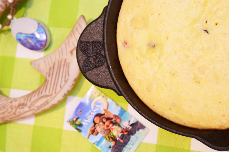 Moana's Tropical Skillet Cornbread Recipe – A Disney Inspired Moana Recipe & Disney Linky Party Wk. 4 #MoanaOnDigital