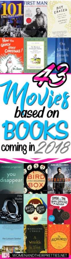 Movies based on books coming to theaters in 2018