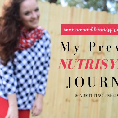 My Previous Nutrisystem Journey & Admitting I need it again!