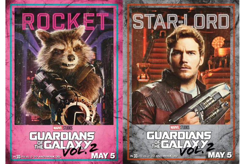 New Guardians of the Galaxy Vol 2 Character Posters – #GotGVol2Event