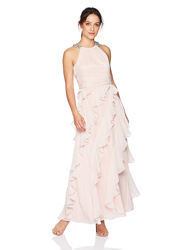 Romantic Blush Dresses for Valentine's Day