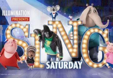 Sing Saturday - FREE Screenings of SING 11/26