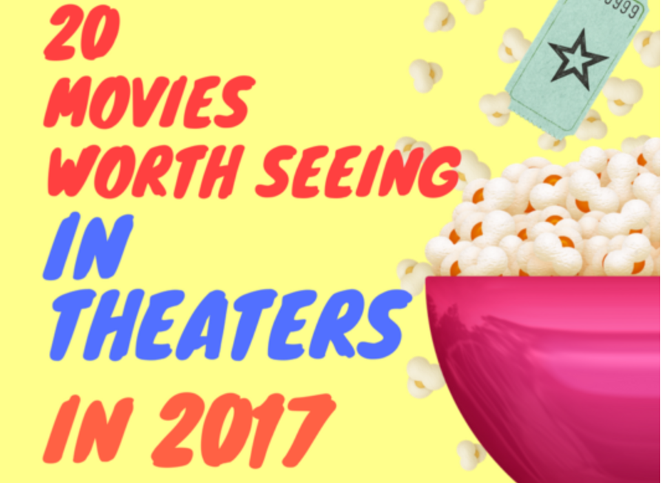 Since last year, I've mulled over the list of 2017 movies. You may have noticed my wildly popular post: Movies Based On Books Coming in 2017. I'm super excited about the potential for 2017. These are the movies I think are worth seeing in theaters this year. You're welcome to grab this movie calendar free printable for your refrigerator to keep track of these big films of 2017.