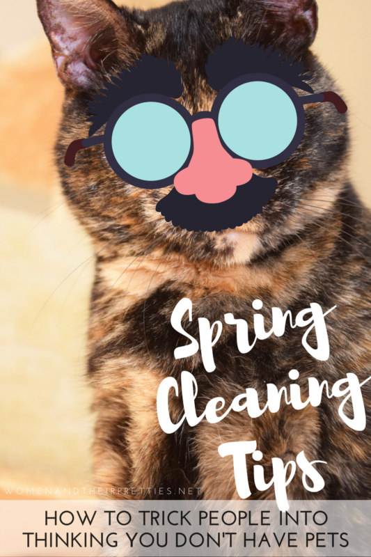 How to trick people into thinking your don't have pets – 6 Spring Cleaning Tips for Pet Parents