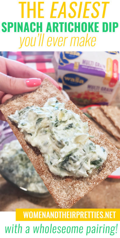 The easiest Spinach Artichoke Dip you'll ever make (with an oh so wholesome and delicious pairing)