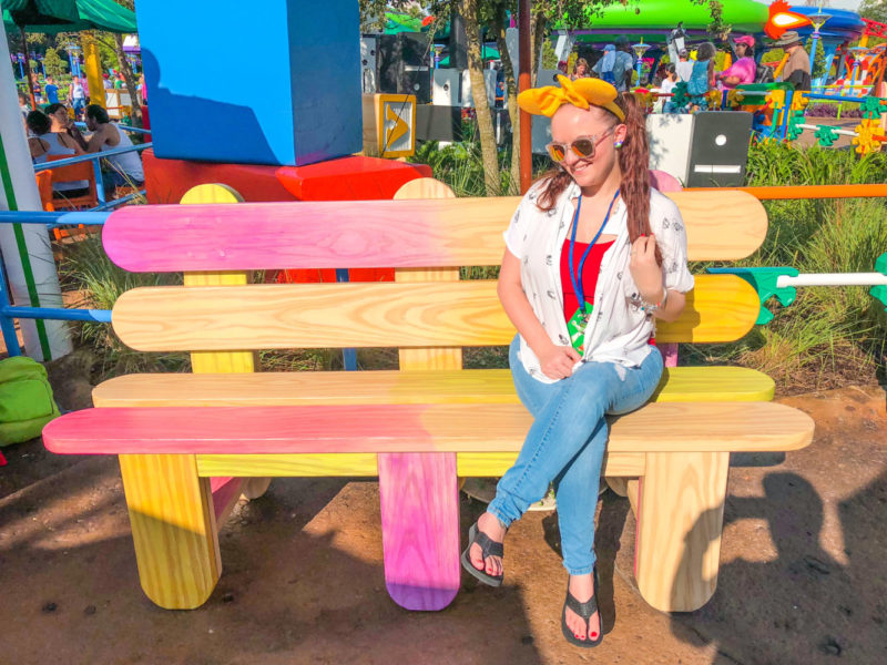 Toy Story Land Bucket List Popsicle Bench