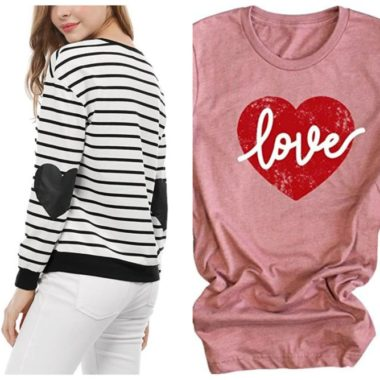 13 Casual & Cute Heart Shirts on Amazon for Valentine's Day
