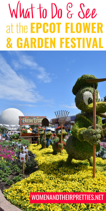 What to see and do at the Epcot International Flower & Garden Festival & a new Disney Linky! #FreshEpcot