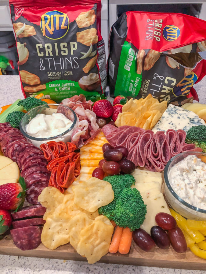 DIY CHARCUTERIE BOARD for game day