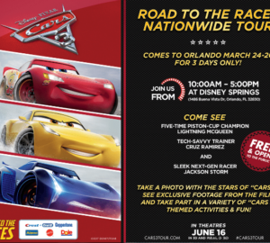 Cars 3 tour is coming to a city near you!