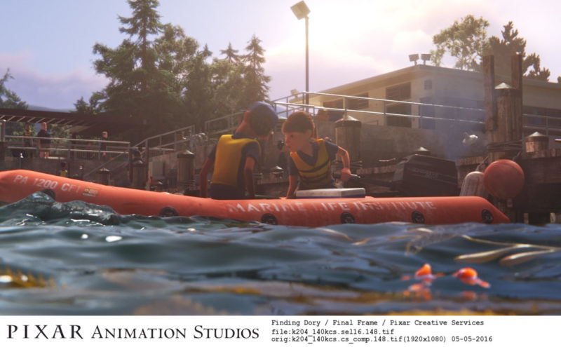 The registration number for the zodiac boat that picks up Dory in the bay outside the Marine Life Institute is PA1200, which represents Pixar's address: 1200 Park Avenue.