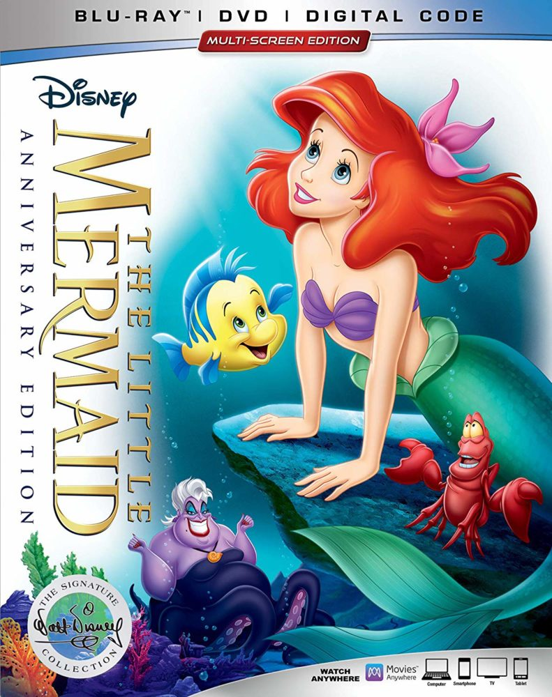 the little mermaid anniversary blu-ray