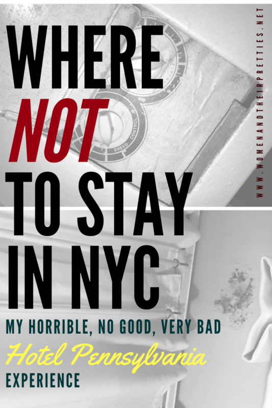 If you're looking for a good hotel in New York City – Hotel Pennsylvania is not the place for you! It's by far, the worst experience I've ever had on vacation. I've stayed in motels that were better than this. the nightmare began as soon as we arrived.